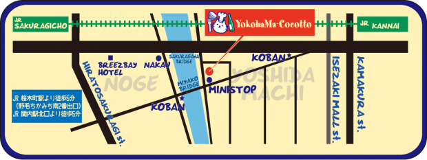 YOKOHAMA COCOTTO MAP